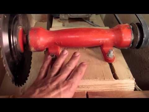 Serra circular de bancada feita em casa - YouTube