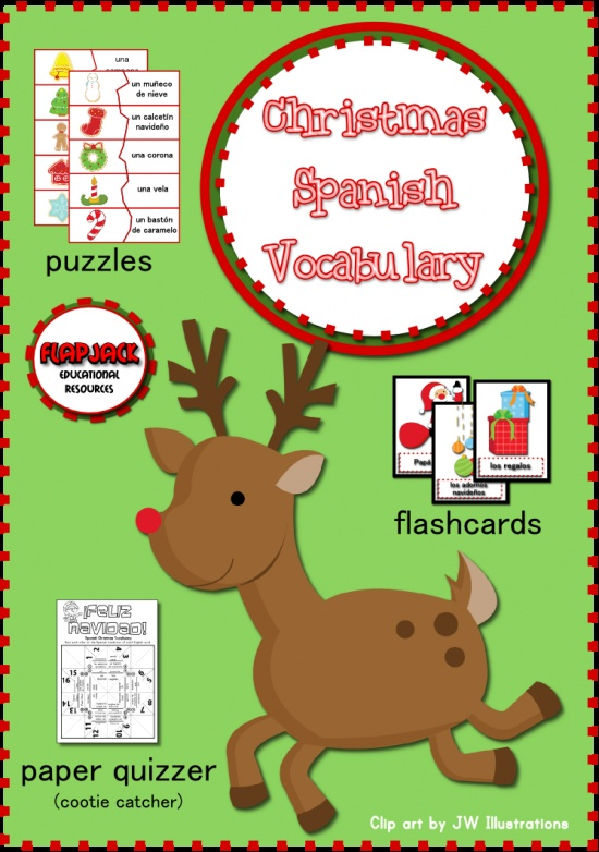 Christmas Spanish Vocabulary Activities product from FlapJack-Ed-Resources on TeachersNotebook.com