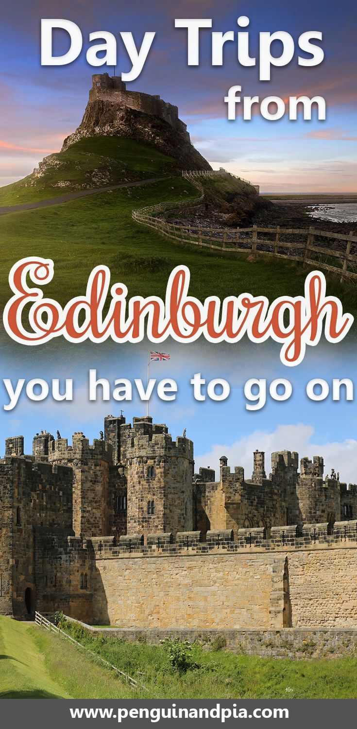 There are many day trips from Edinburgh that you could take. We give you 8 great day trip idea so you can see more of Scottland that just the capital - how about Glasgow, Aberdeen, the Scottish Highlands or beautiful castles? We've got just the right Edinburgh day trip inspiration for you! #edinburgh #scotland #daytrip #visitscotland