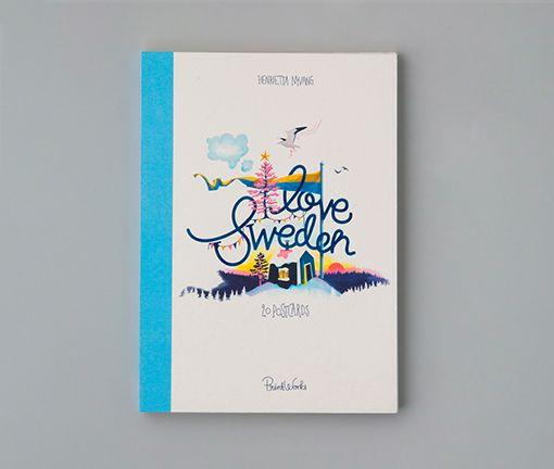 I Love Sweden - 20 postcards
