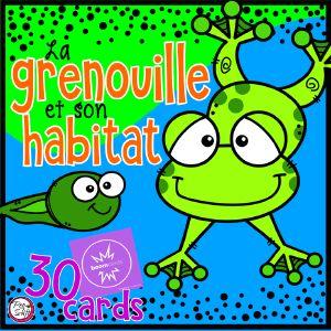 Boom Cards - La grenouille et son habitat