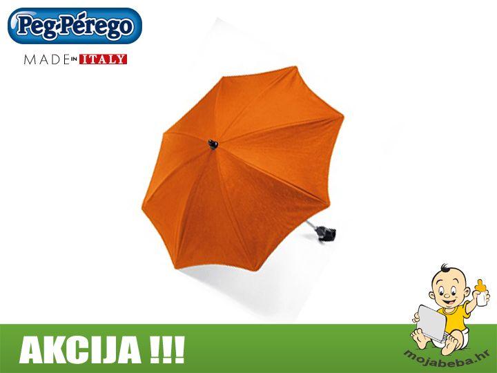 Na AKCIJI !!! Peg Perego suncobrani s adapterom za Book dječja kolica u narančastoj boji.