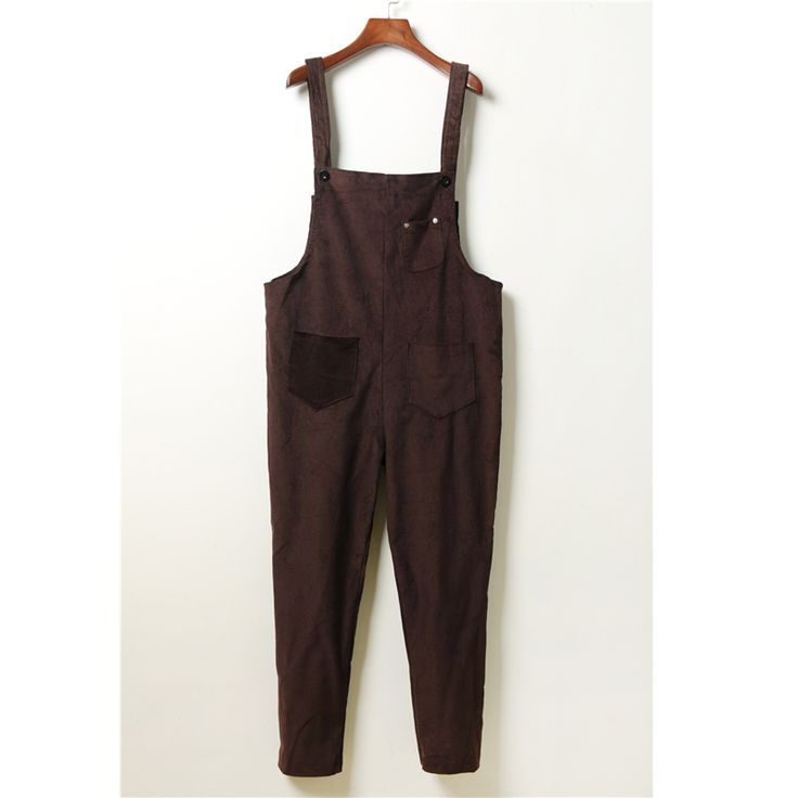 autumn and winter women loose casual straight trousers collapse pants commuter retro Art corduroy overalls for girls