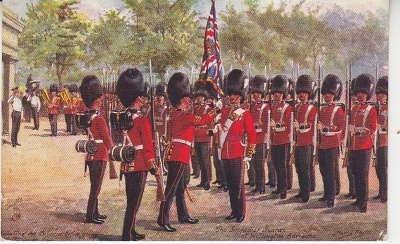 Raphael Tuck Oilette Postcard - The Grenadier Guards at Wellington Barracks - Harry Payne - 3546C