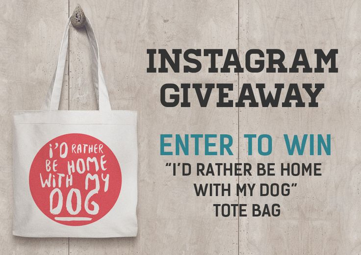 Everything the Dog's Instagram competition starts today! Win this dog quote tote bag by going to our Instagram page and following the steps below.  Make sure you're following Everything the Dog on Instagram. Repost this image with the hashtag ‪#‎ETDMarch2016‬ on your repost. Tag 2 Friends. https://www.instagram.com/p/BCv6xLep8o7/  Winner will be chosen on March 17 2016. GOOD LUCK!