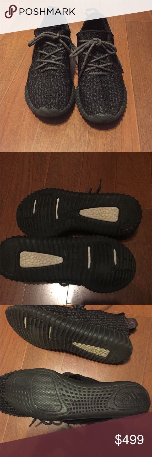 Adidas Yeezy Boost 350 Pirate Black Size 9.5 Authentic Adidas Yeezy Boost 350 Pirate Black Size 9.5 Pre-Owned Yeezy Shoes Athletic Shoes
