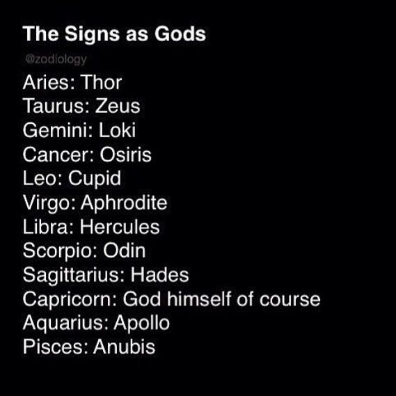 """Just funny cause mine was """"god himself of course"""""""