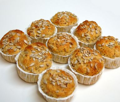Morotsmuffins med solroskärnor   Recept ICA.se