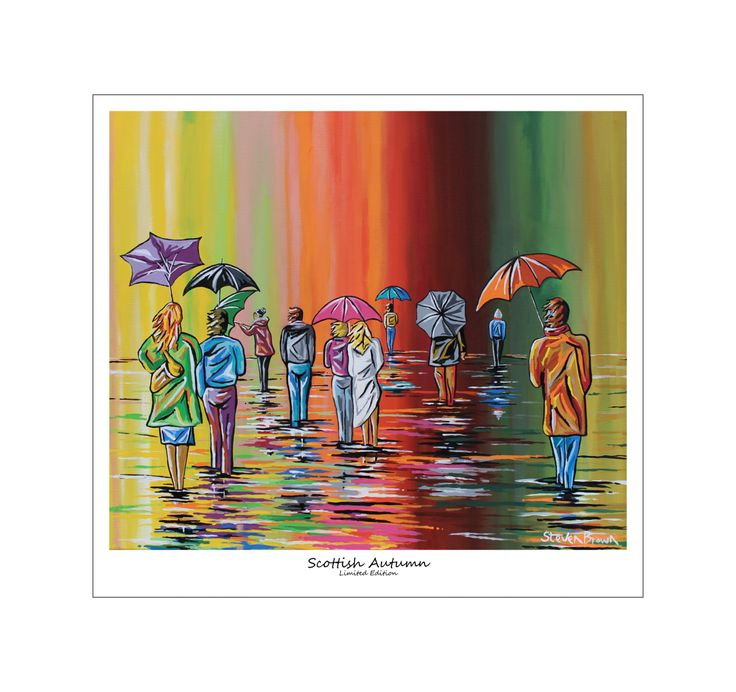 £49.00 H64cm x W70cm  Scottish Autumn - Print (Limited Edition) - Steven Brown Art -