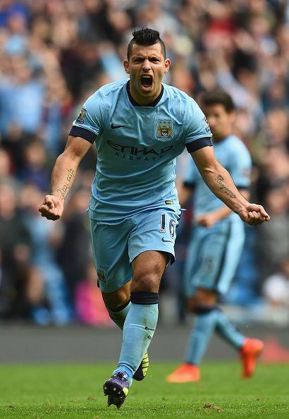 1,2,3 & 4 Sergio Aguero vs Tottenham 4:1