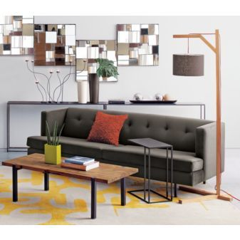 avec pewter sofa in sofas | CB2