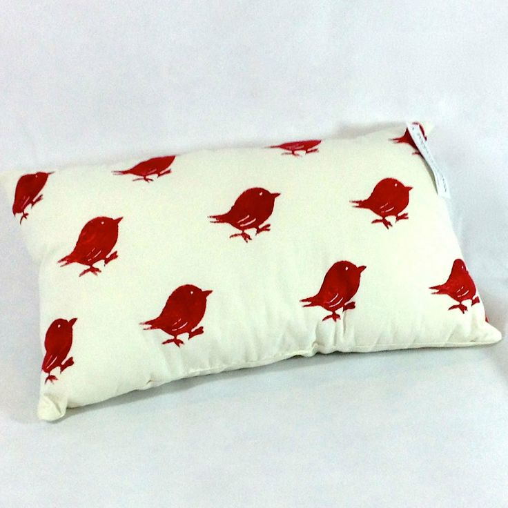 Poppy Cypress - Signature Bird Cushion - Red #handmade #cushions #home #gifts