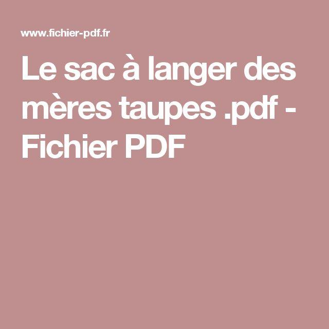 Le sac à langer des mères taupes .pdf - Fichier PDF