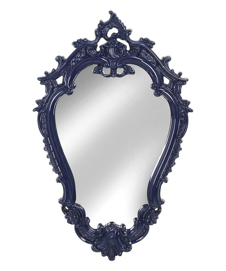 Take a look at this Cobalt Blue Victorian-Inspired Wall Mirror today!