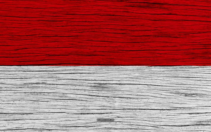 Download wallpapers Flag of Indonesia, 4k, Asia, wooden texture, Indonesian flag, national symbols, Indonesia flag, art, Indonesia