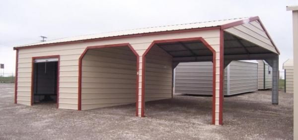 Garage carport combo garages pinterest for Carports and garages