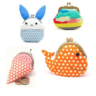 Adorable kid-friendly coin purses by Etsy seller Misala Handmade