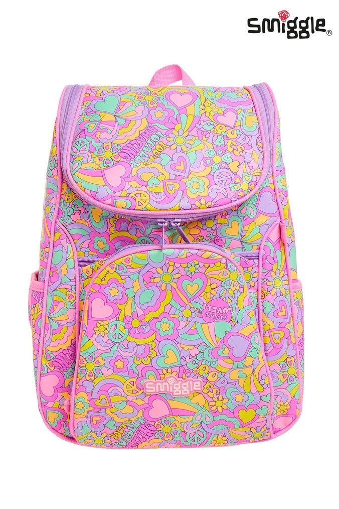 Girls Smiggle Good Vibes Access Backpack Pink in 2020