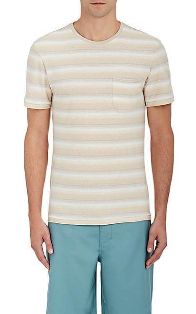 Outerknown Wailua Striped Hemp-Organic Cotton T-Shirt - Tops - 505148982