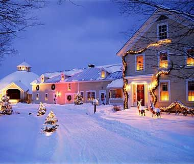 Cozy New England: Waitsfield, VT It's almost impossible to deny the appeal of a classic New England inn—especially in winter—like the Inn at Round Barn Farm, a 19th-century farmhouse-and-horse barn–turned-hotel that sits on 245 bucolic acres in Vermont's Mad River Valley. All 12 comfortable rooms have mountain and meadow views.