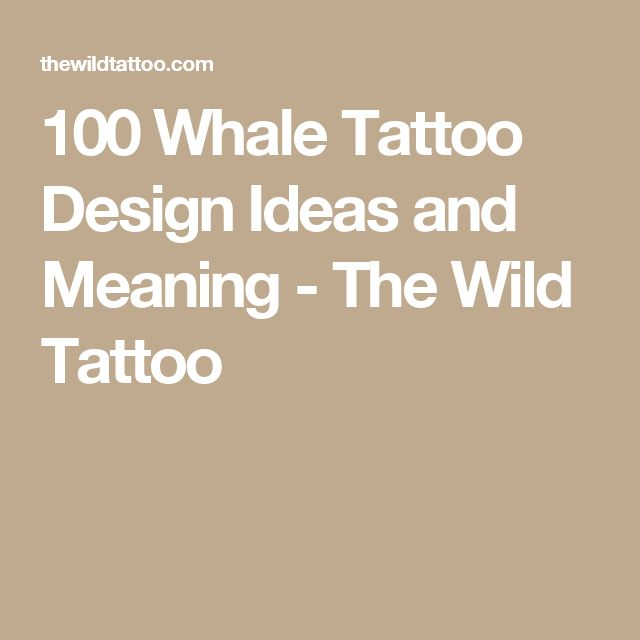 100 Whale Tattoo Design Ideas and Meaning - The Wild Tattoo