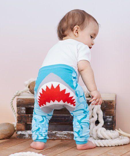 Doodle Pants Blue Shark Leggings - Infant | zulily