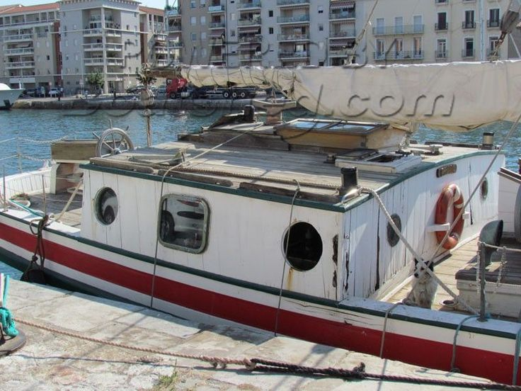 Gaff Rigged Cutter Portuguese Sailing Barge for sale, 24.80m, 1925   Boatshed Midi Canals