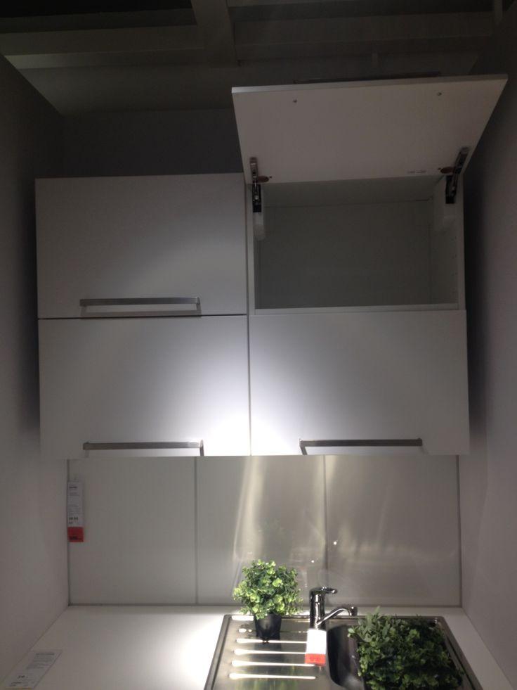 Weiße Klappbare Küchenoberschränke