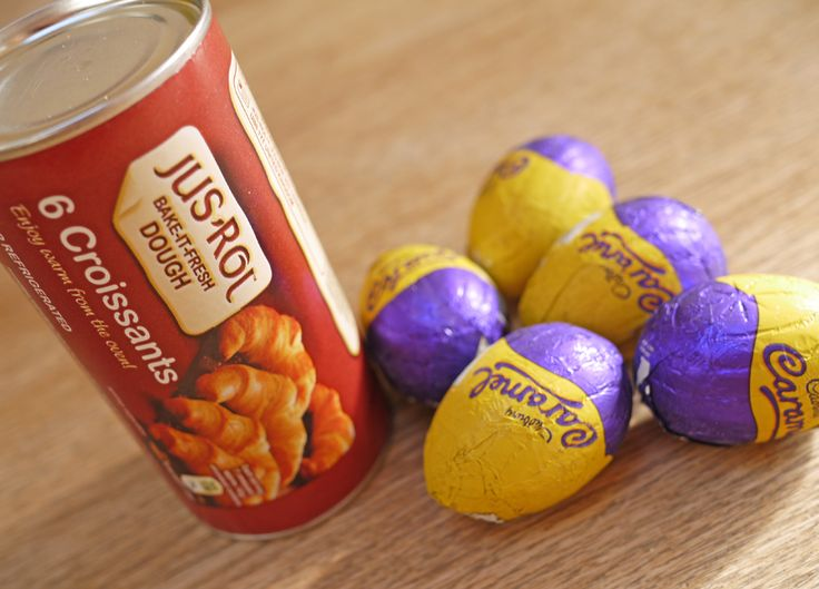 Cadbury Caramel Egg Stuffed Croissants
