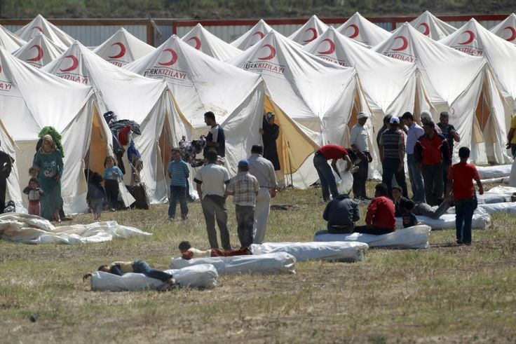 Refugees take shelter in Turkey