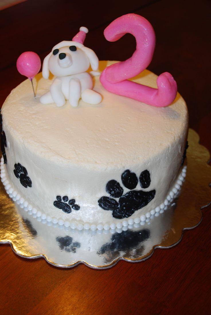 Groovy Puppy Birthday Cake 1000 Ideas About Puppy Birthday Cakes On Funny Birthday Cards Online Drosicarndamsfinfo