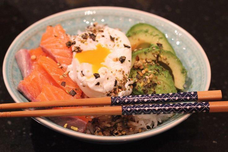 SASHIMI BOWL ZALM EN AVOCADO | ENJOY! The Good Life | #pasen #healthy #fish #recipe