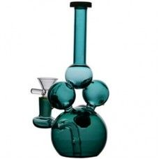 """Artistic Colored Blown Glass Water Bong-7.5"""" and 14 mm Joint s245"""