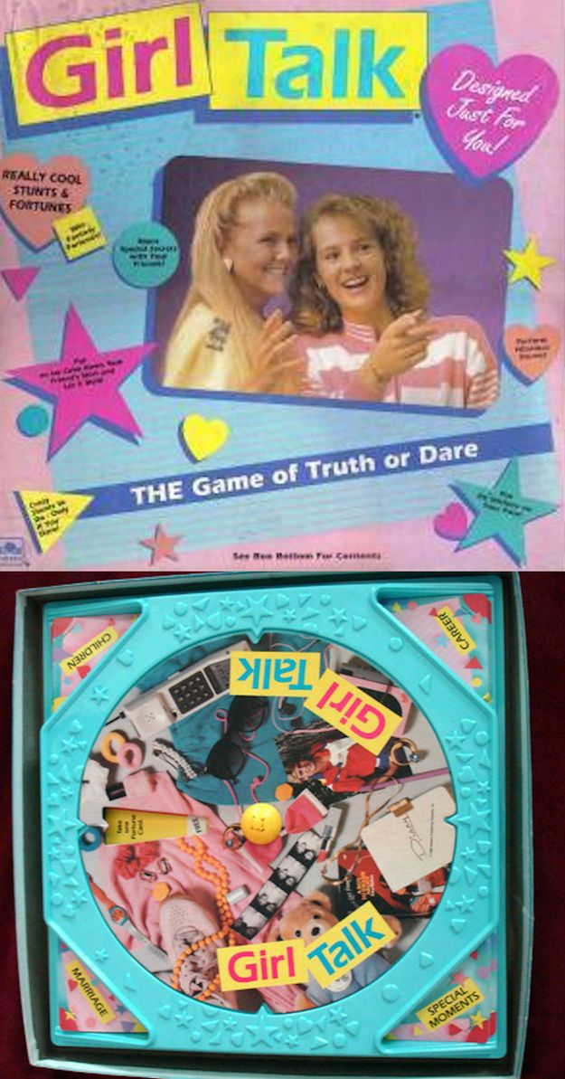 The 5 Most Messed Up '90s Girly Board Games: #2 Girl Talk WTF aspect: Fail to complete a truth/dare and you have to wear a red zit sticker. Awkward for the girl in the room who actually does have really bad, emotionally scarring acne. ------> Me :(