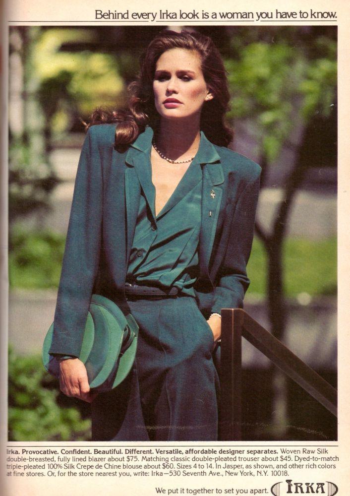 1980 Juli Foster Irka Apparel Rare Print Advertisement Ad Vintage VTG 80s | eBay