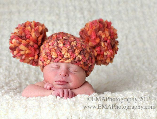 Pom Pom Hat Prop for photo: Newborn Baby, Pom Hats, Crochet Baby Hats, Newborn Photo, Photo Props, Crochet Hats, Newborn Hats, Baby Girls, Pom Pom