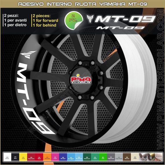 Strisce adesive cerchio Yamaha MT-09 interno di PIMAstickerslab