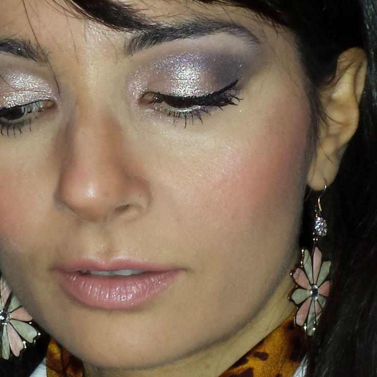 make up glitter per le feste natalizie