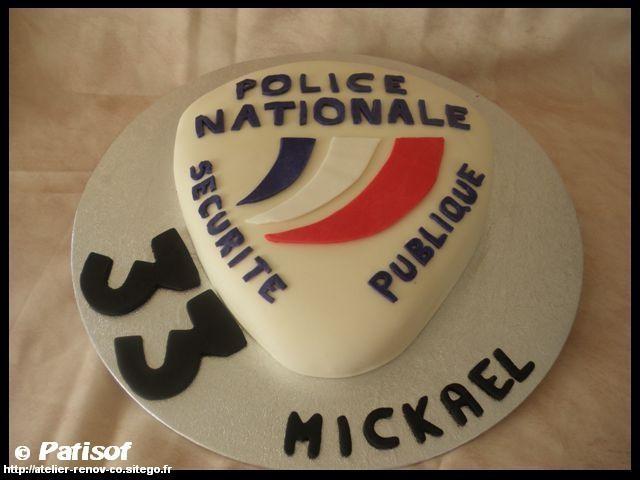 Gâteau écusson police nationale par patisof - atelier R & Cook