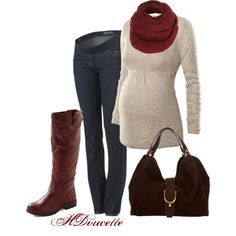 Autumn Maternity Looks: Get this awesome fall maternity look for less at MotherhoodCloset.com