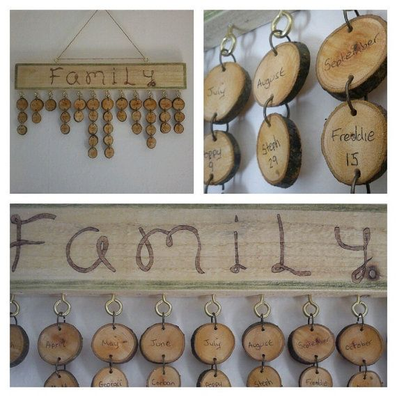 Wooden memory kit   Family Birthday Calendar by TheDigitalWoods, £30.00