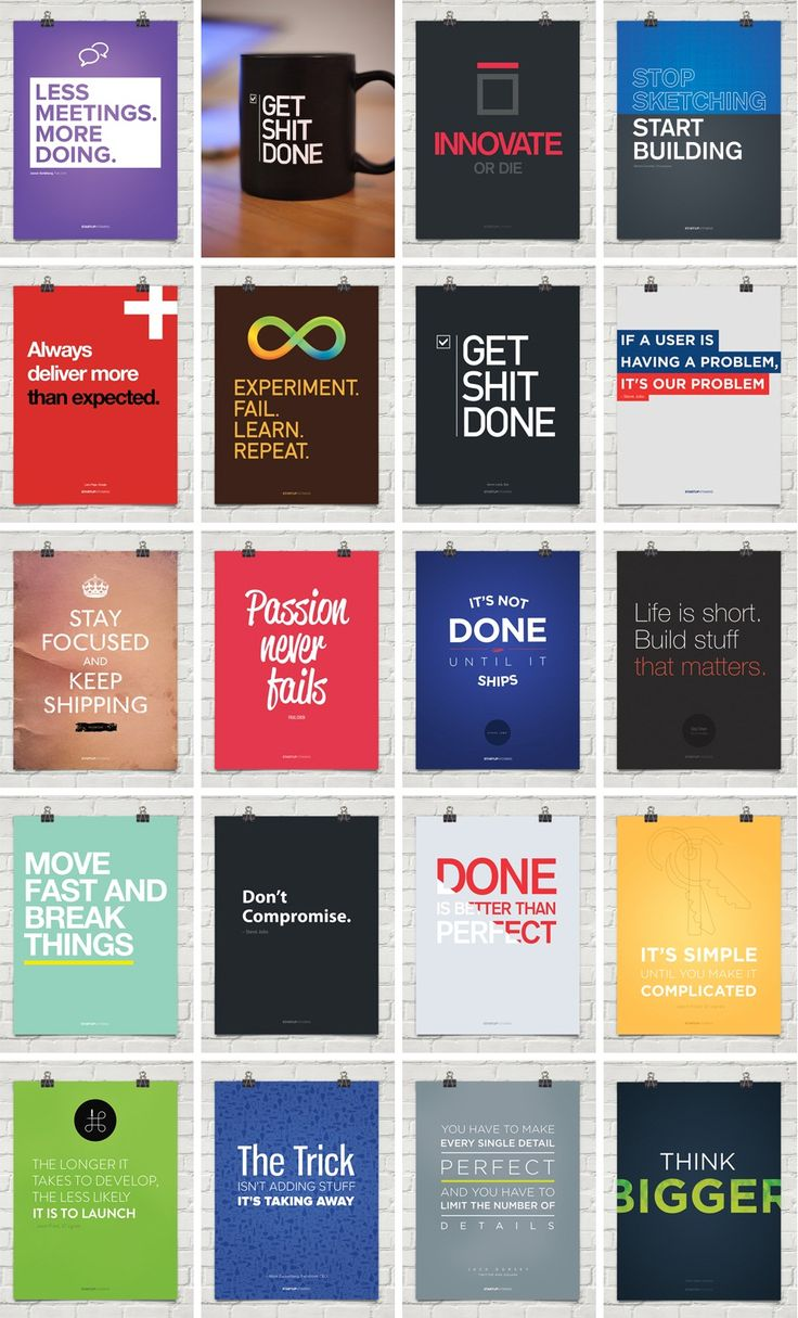 Motivating posters for your startup