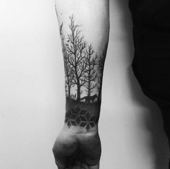 This Tree Line Cuff by Martynas Å nioka