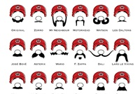 Mario's Mustaches  by Atomike studio