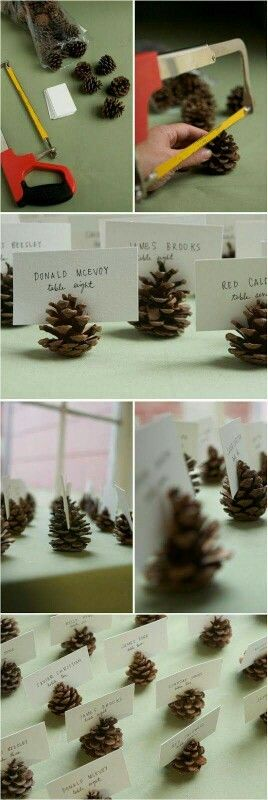 Totally love this idea. Would be great for anyone having a Christmas themed wedding, too!!