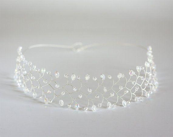 12_Hair accessories Crystal headband Crystal tiara by ArsiArt