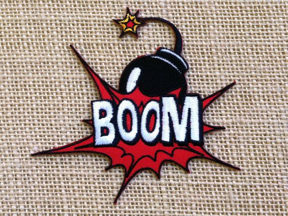 Punk Patch for Jackets BOOM Iron On Patch by RainbowEffectsTieDye