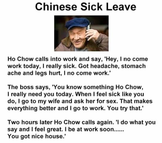 Chinese sick leave
