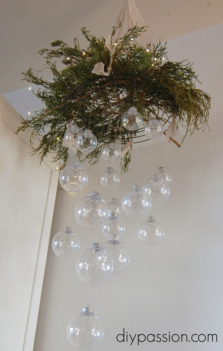 Clear Ornament Hanging Chandelier Monthly DIY Challenge