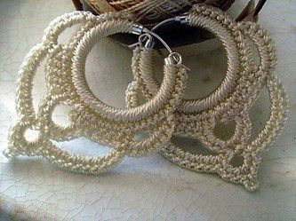 Crochet earrings. This site offers free pattern charts for these, and other crochet earrings.